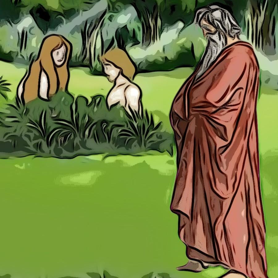 Lorsque Dieu créa Adam et Eve Sans6047