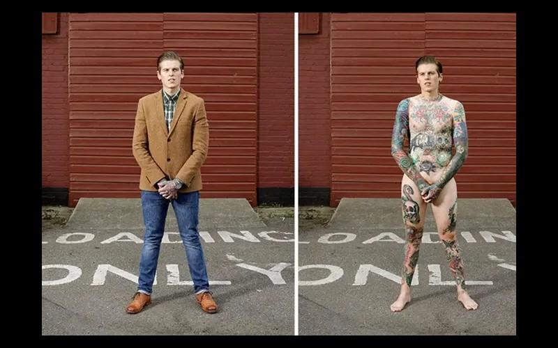 14 personnes tatouées se mettent à nu pour briser les clichés Sans6281
