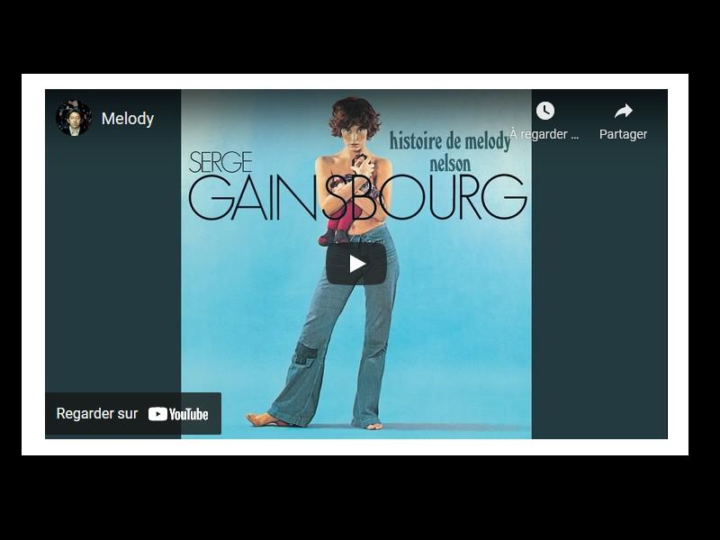 Flop à sa sortie, l'album de Gainbourg Histoire de Melody Nelson a trop joué avec le feu Sans6387