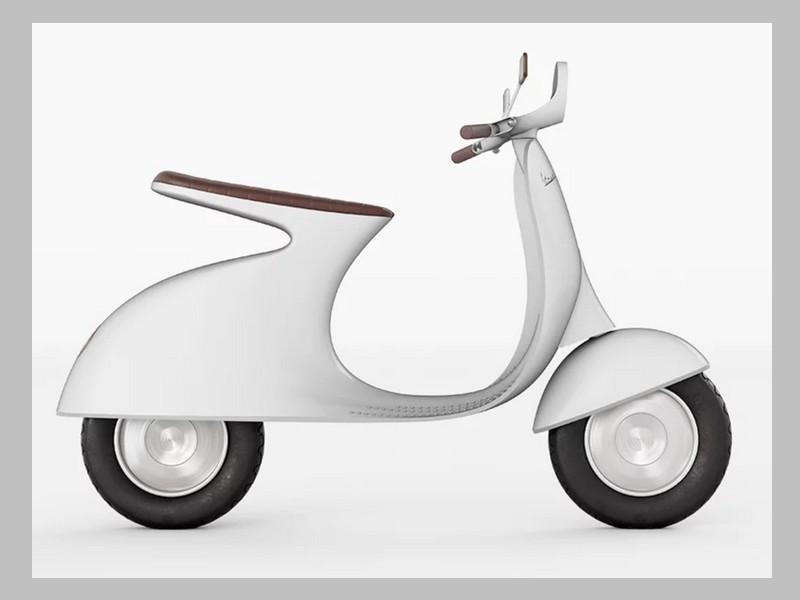 Ce designer réinvente le Vespa avec un concept futuriste et 100% électrique Sans_245