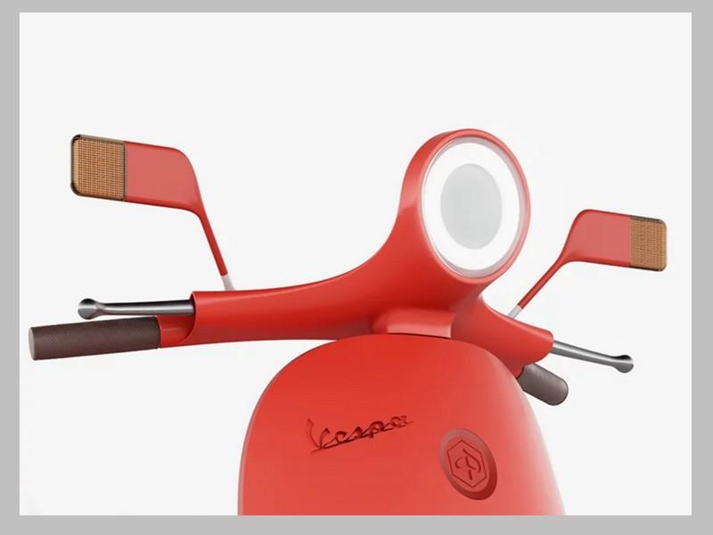 Ce designer réinvente le Vespa avec un concept futuriste et 100% électrique Sans_246