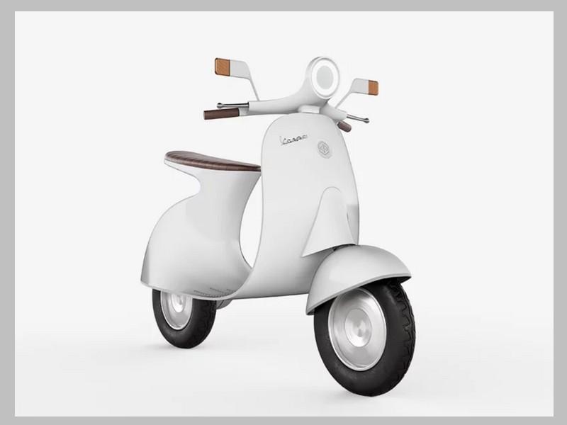 Ce designer réinvente le Vespa avec un concept futuriste et 100% électrique Sans_247