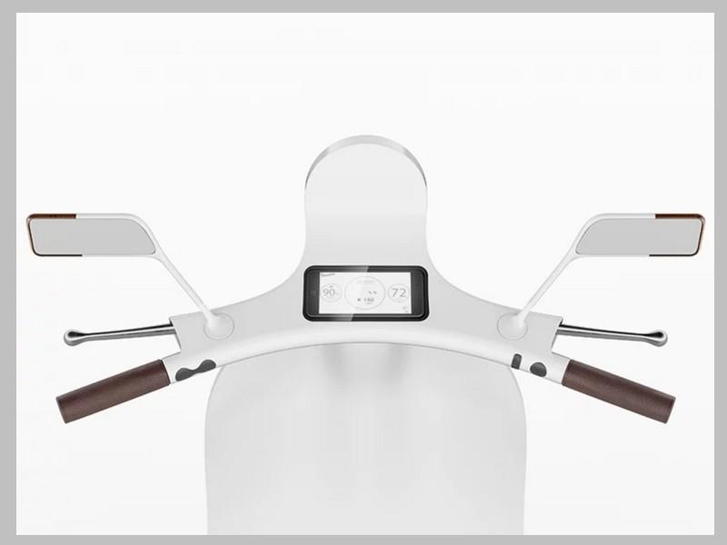 Ce designer réinvente le Vespa avec un concept futuriste et 100% électrique Sans_249