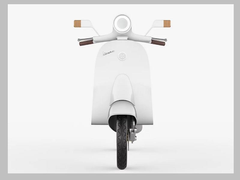 Ce designer réinvente le Vespa avec un concept futuriste et 100% électrique Sans_252