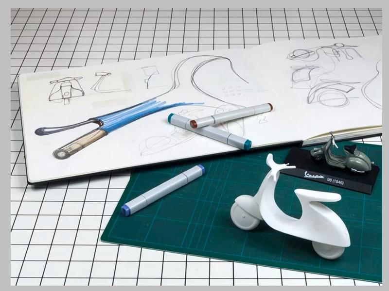 Ce designer réinvente le Vespa avec un concept futuriste et 100% électrique Sans_254