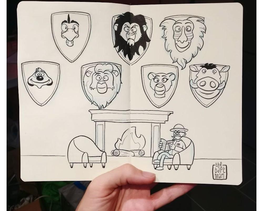 Il illustre les personnages Disney (et autres héros) face à la catastrophe écologique Sans_560