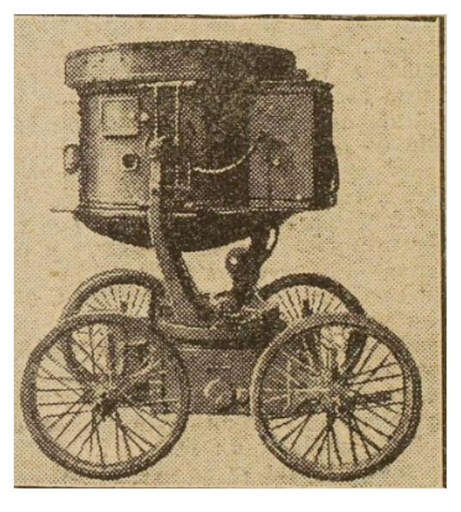 PROJECTEUR ALLEMAND SUR RAIL 1918 Sans_582