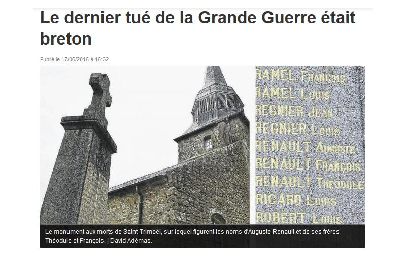 Le dernier tué de la Grande Guerre était breton  Sans_762