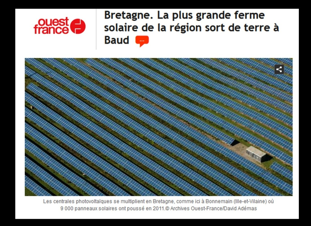 Bretagne. La plus grande ferme solaire de la région sort de terre à Baud Sans_817