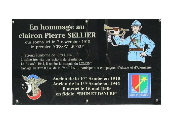 """Pierre Sellier sonna au clairon le premier """"cessez-le-feu"""" Sans_826"""