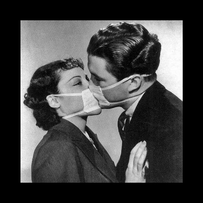 Embrasser pendant une épidémie de grippe Ww12