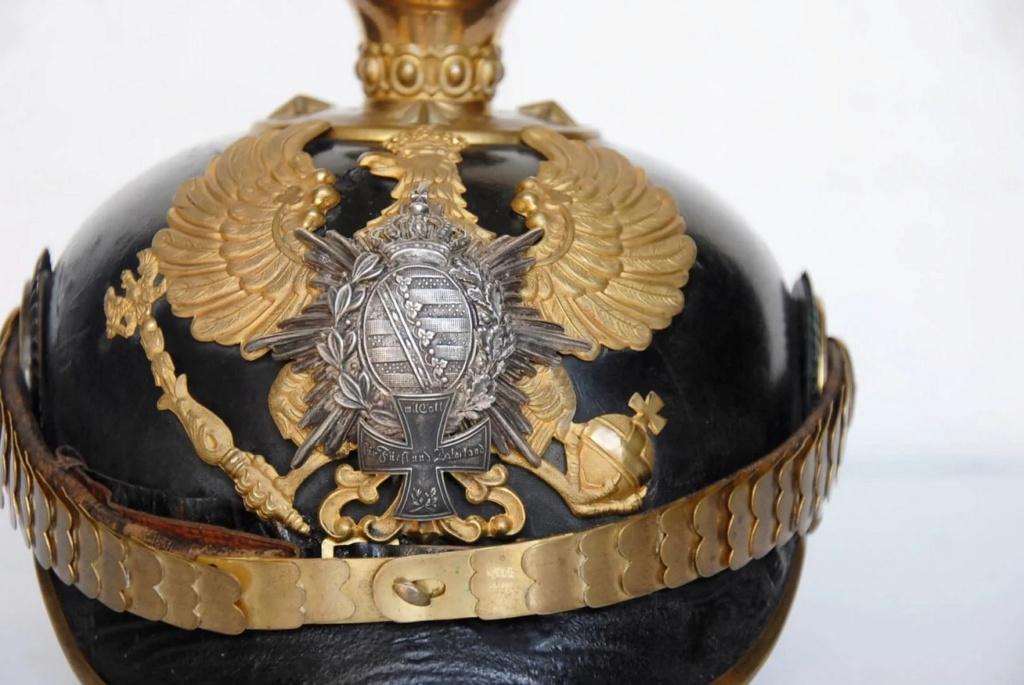 casque officier de Saxe-Weimar, B310