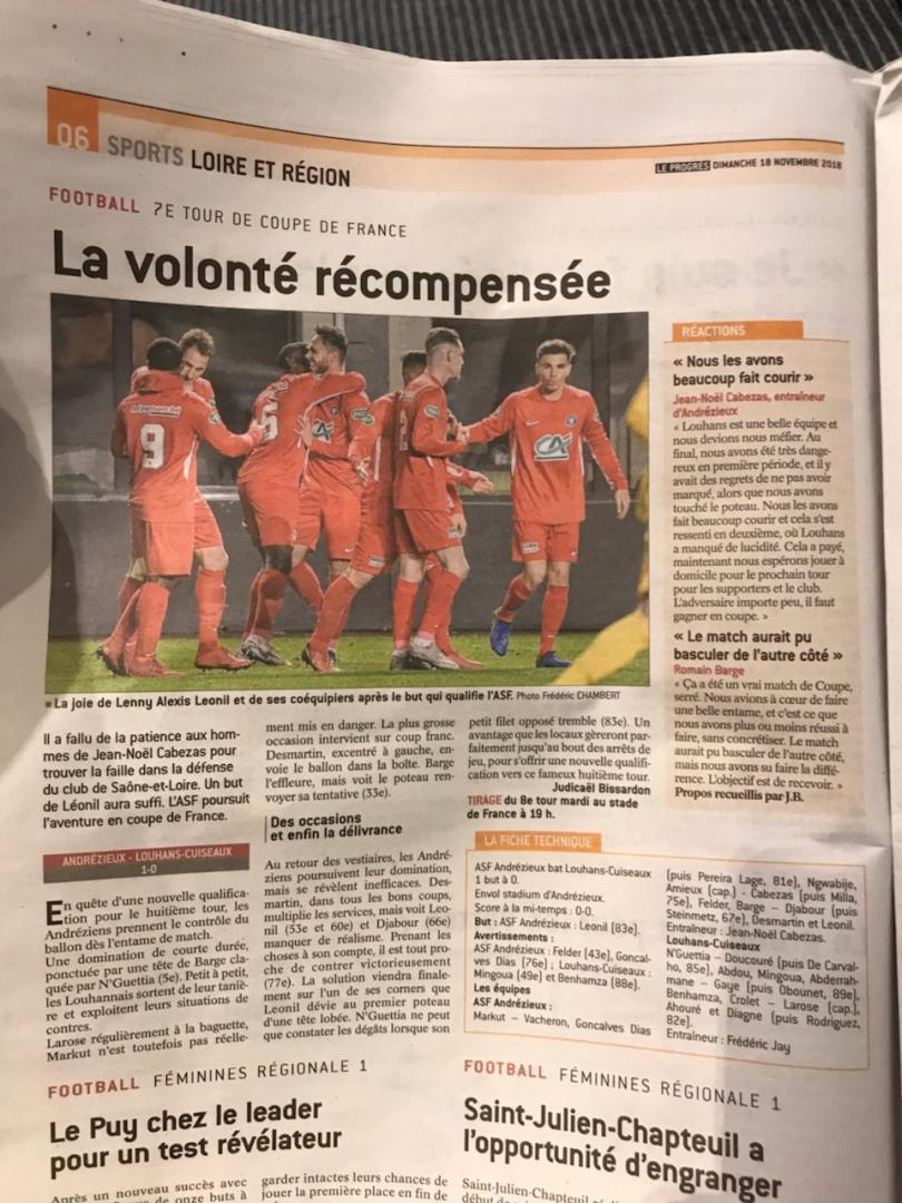 [Coupe de France 2018-2019] Sujet unique - Page 5 Img_7510