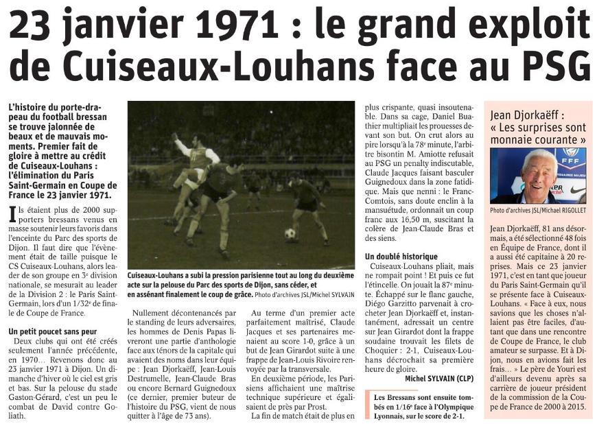 Cuiseaux-Louhans - Paris Saint-Germain Psg110