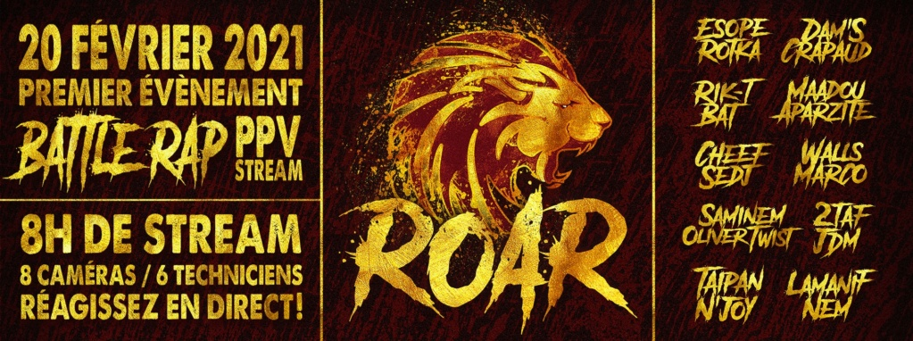 ROAR BATTLES (live stream  en direct de chez toi) 13204111