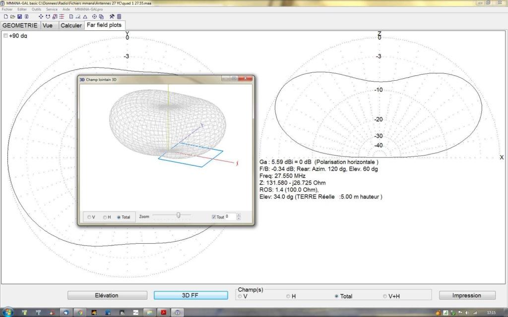 antenne quad horizontale,omnidirectionnelle 27mhz Quad_h10