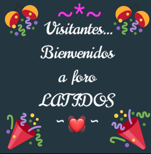 Visitantes .. Bienvenidos a foro Latidos!!  Scre4486