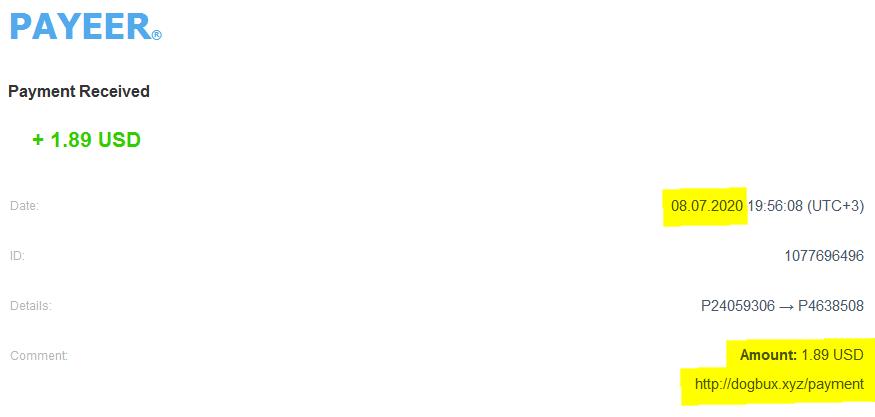 [PAGANDO] DOGBUX - PAGO 1 RECIBIDO - 80% REFBACK - MINIMO 2 $ Pago_d10