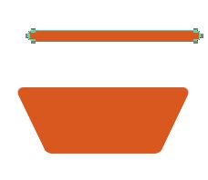 Making flower pot with shapes 411