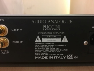 Sold - Audio Analogue Puccini settanta integrated amplifier (Used) 08f73110