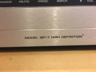 Sold - Audio Research SP17 tube pre-amplifier. (Used) 0b36af10