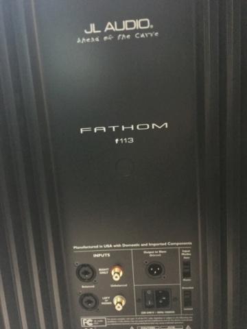 "JL Audio fathom f113 13.5"" subwoofer (Used) 2648ff10"