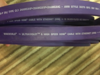 Wireworld Ultraviolet 6 HDMI cable (Used) 2c372110
