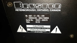 Sold - Bryston 7B SST monoblock amplifier (Used) B1a16c10