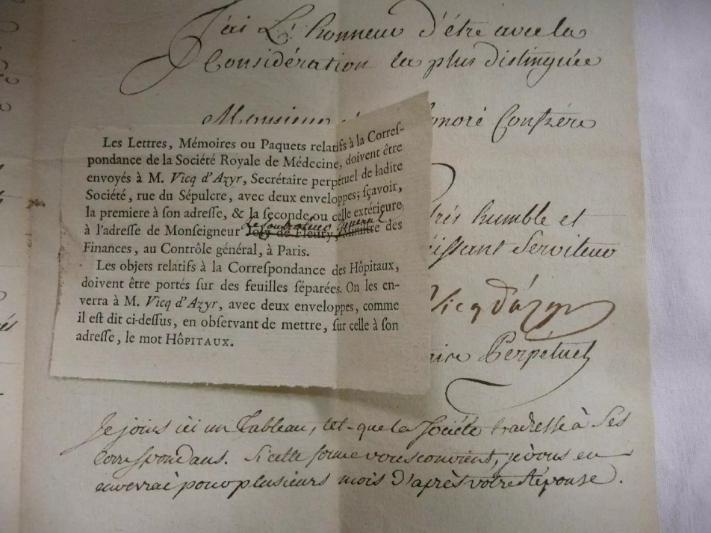 Ecrit et croquis du Médecin Vicq d'Azir Tzolzo10