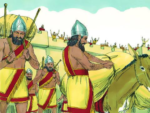 Daniel et les 3 Hébreux, Ananias, Azarias et Misaël, déportés à Babylone 003-da10
