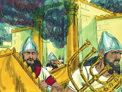 Daniel et les 3 Hébreux, Ananias, Azarias et Misaël, déportés à Babylone 004-da10