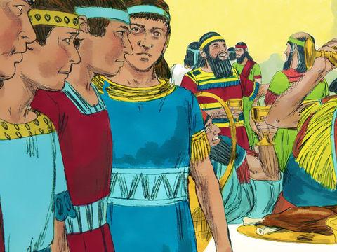 Daniel et les 3 Hébreux, Ananias, Azarias et Misaël, déportés à Babylone 008-da10