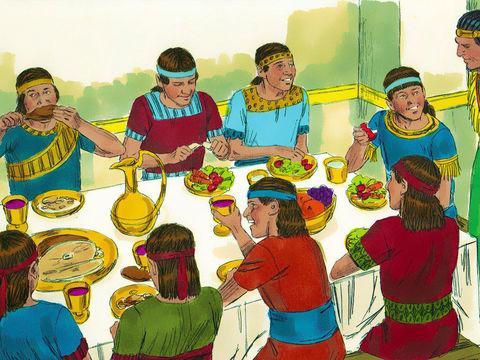 Daniel et les 3 Hébreux, Ananias, Azarias et Misaël, déportés à Babylone 010-da10