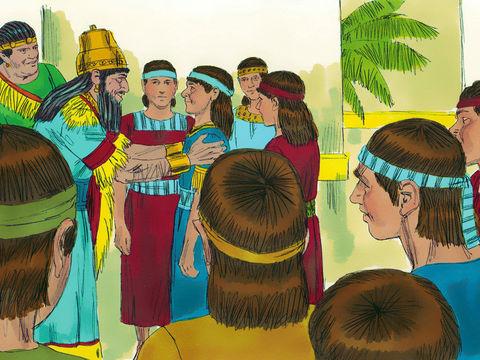 Daniel et les 3 Hébreux, Ananias, Azarias et Misaël, déportés à Babylone 011-da10