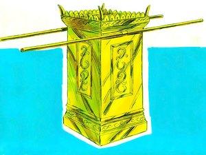 Apocalypse 9 : 13: La sixième sonnerie de trompette et la voix venant des 4 cornes de l'autel d'or 019-mo10