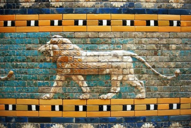 Les 4 bêtes effrayantes qui montent de la mer : le lion Wall-m10