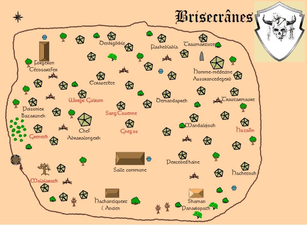 Carte du village Brisec17