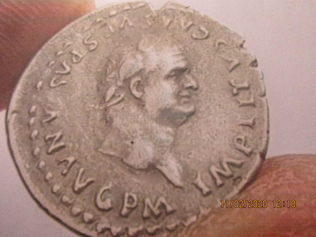 "Denier pour Titus, ""TR P IX IMP XV COS VIII P P"" ... Img_0193"