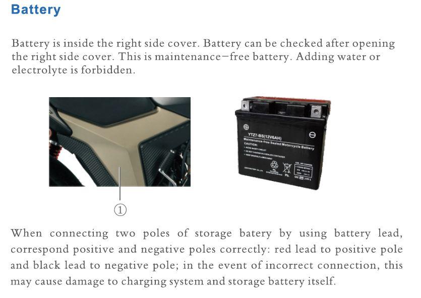 Zontes 125 F Batterie Captur66