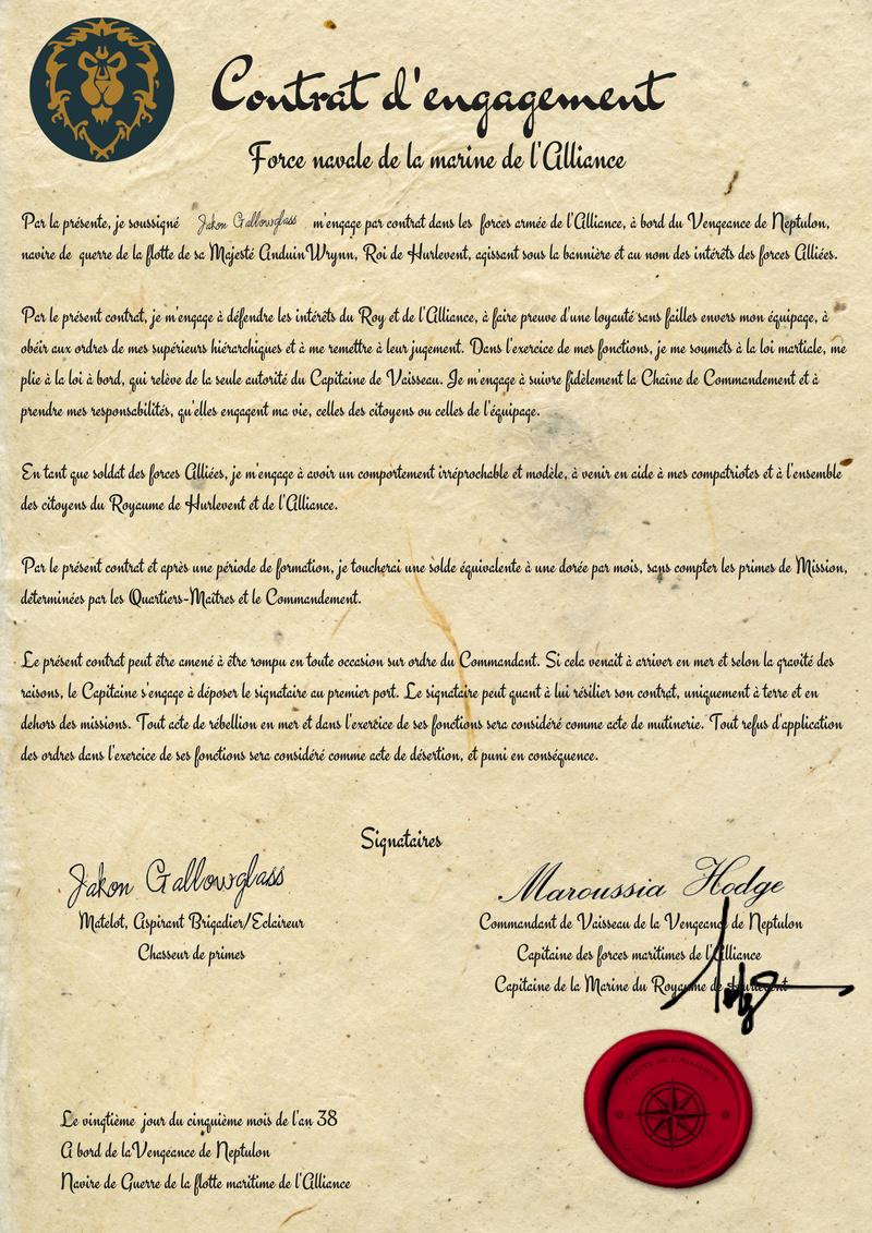 Contrat d'engagement de Jakon Gallowglass Savonn10