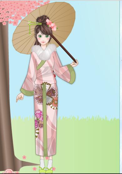 Spring Kimono Gallery Jupite10