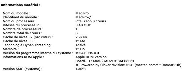 [RESOLU] BIG SUR / CLOVER R5130 X64 exception / écran rouge  Captur56