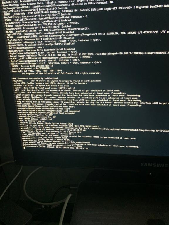 [RESOLU] Blocage aléatoire au boot sous macOS 11.5.1 E218cf10