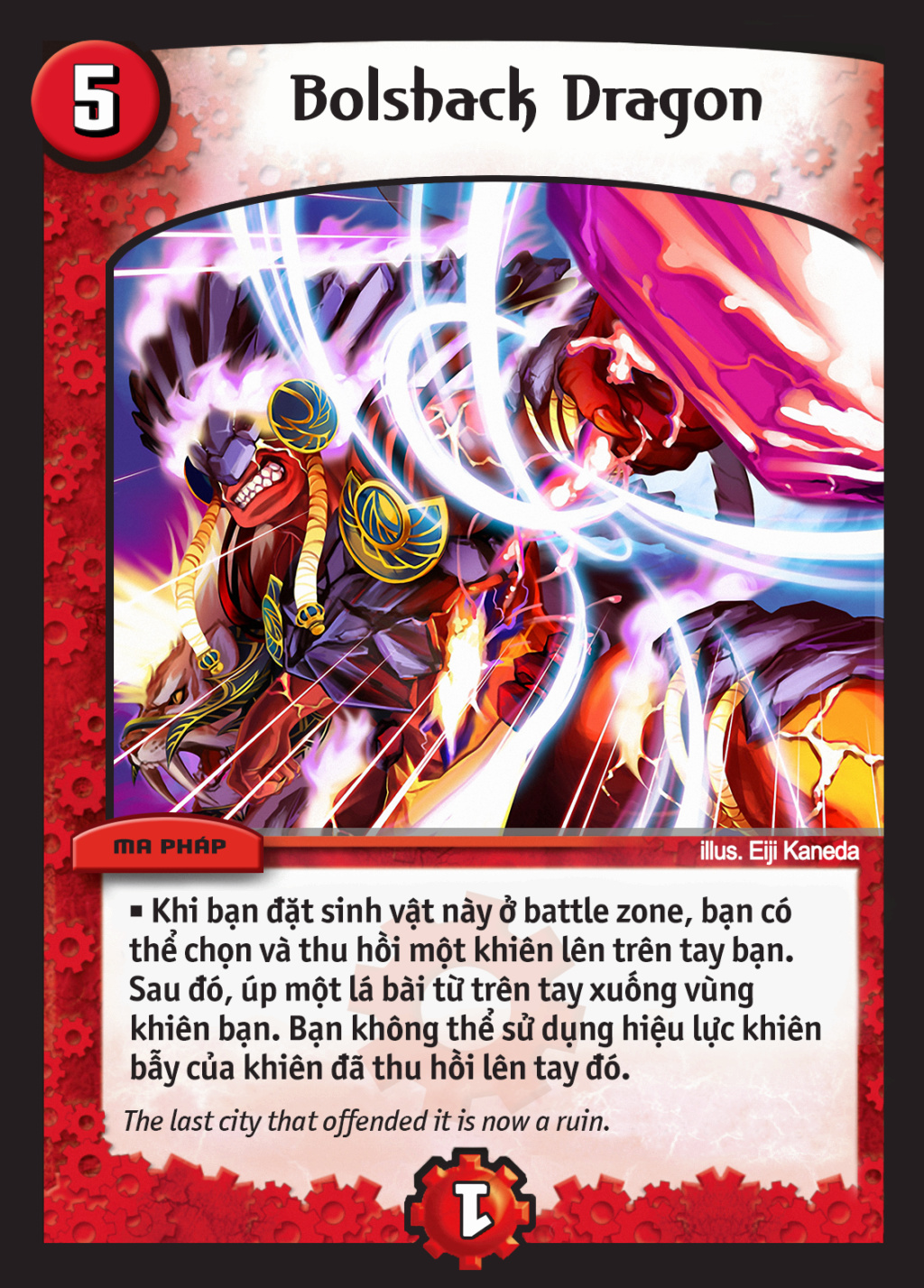 Duel Masters GEN2 Template (Xenoga Remaster) Fire_210