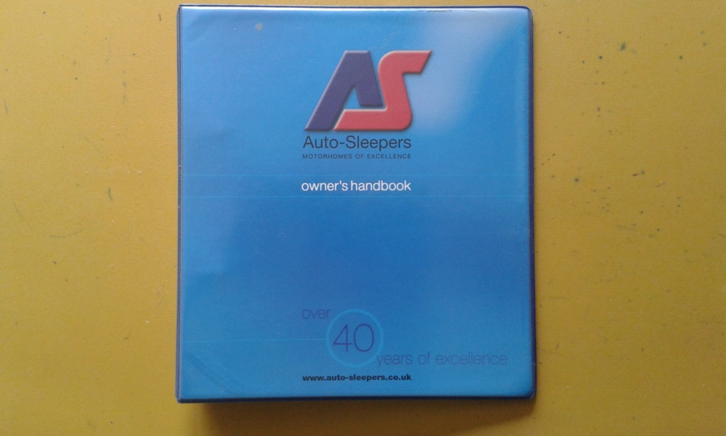 Autosleeper Luxor factory handbook for sale. 20180510