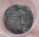 ¿Gadhaiya Paisa vellón, anónimo, series Saurashtra y Gujarat, 800-1050 d.C, NIS 419-429 (variante).? Img_2010