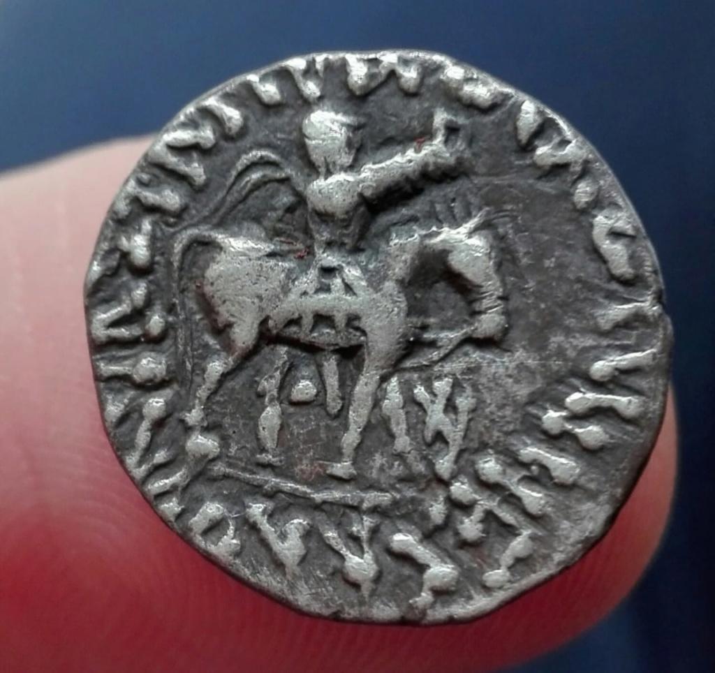 Indo Escita, dracma de Azes II, año 58 / 12 Whatsa19