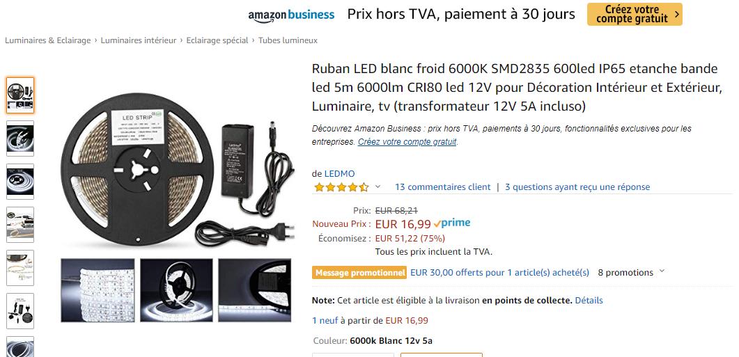 Fabriquer une rampe LED ou l'acheter ?  Ruban_11