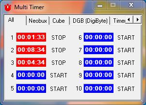 MultiTimer: cronometro para facilitar el trabajo en las faucet 110