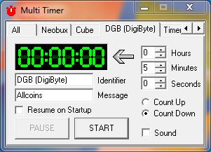 MultiTimer: cronometro para facilitar el trabajo en las faucet 210